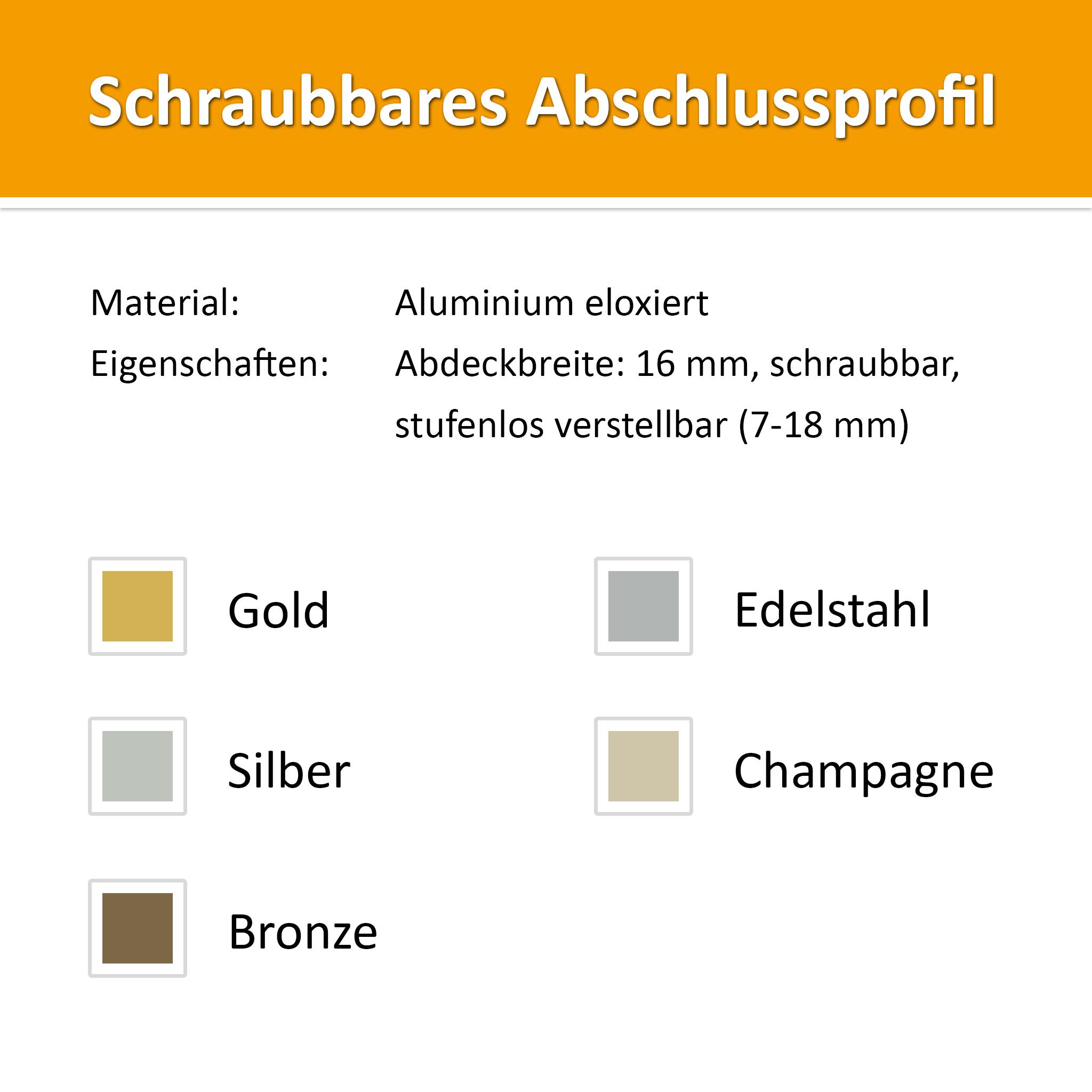 Abschlussprofil Alu Gold 1,00 m