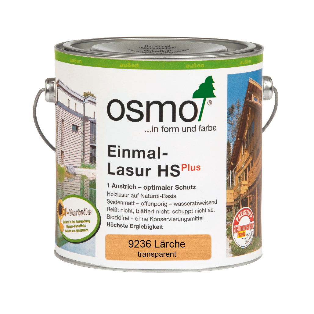 Osmo Einmal-Lasur HS+ Lärche 2,50 L.