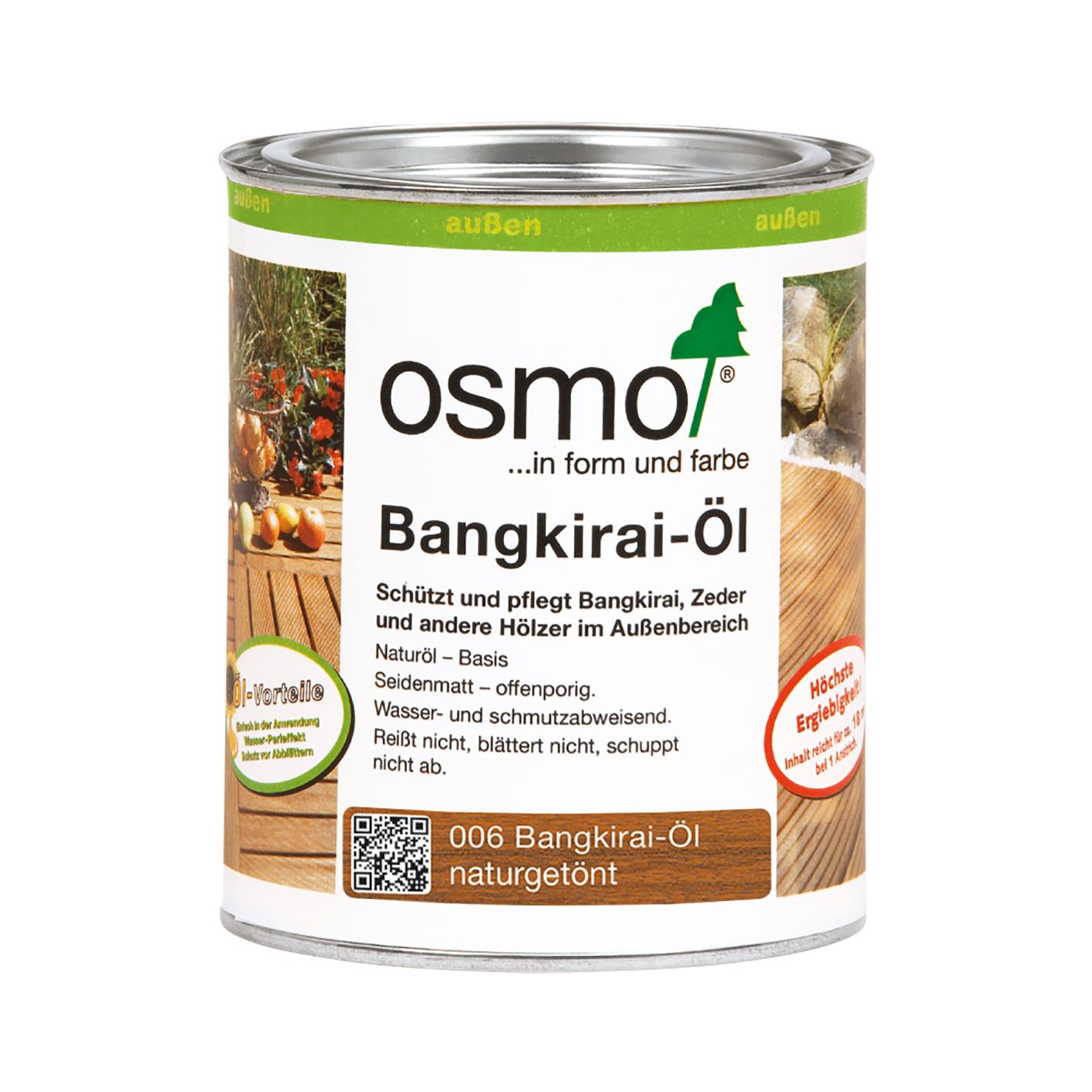Osmo Bangkirai-Öl Natur 2,5 Ltr.