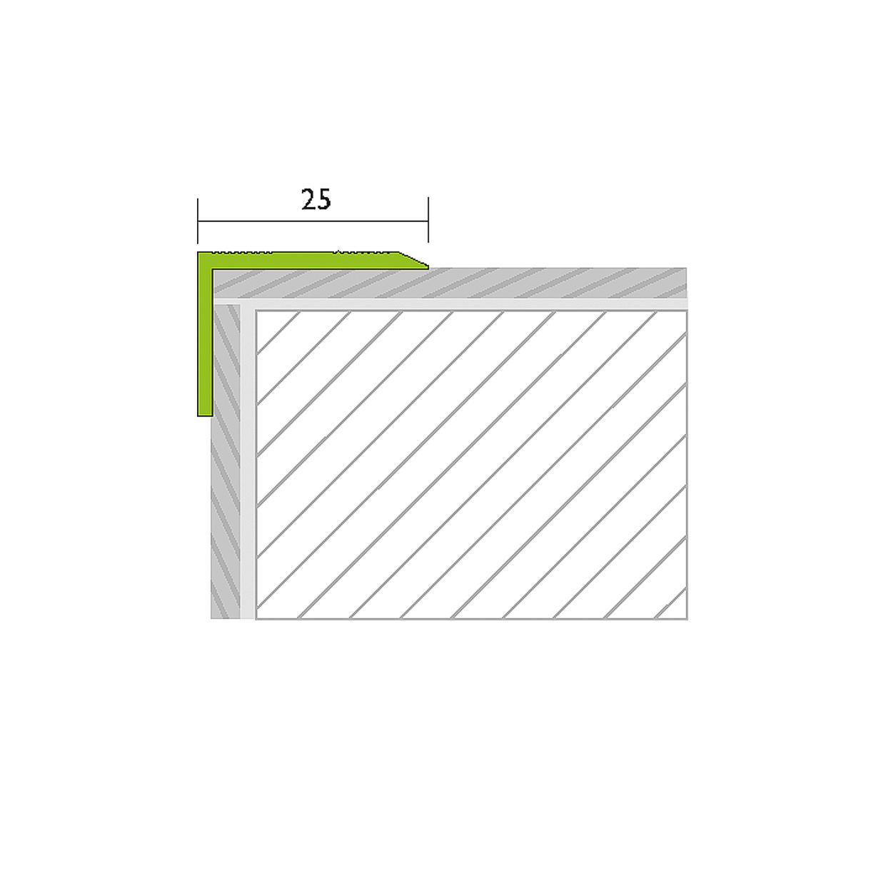 Angle profile perforated alu gold 1,00m