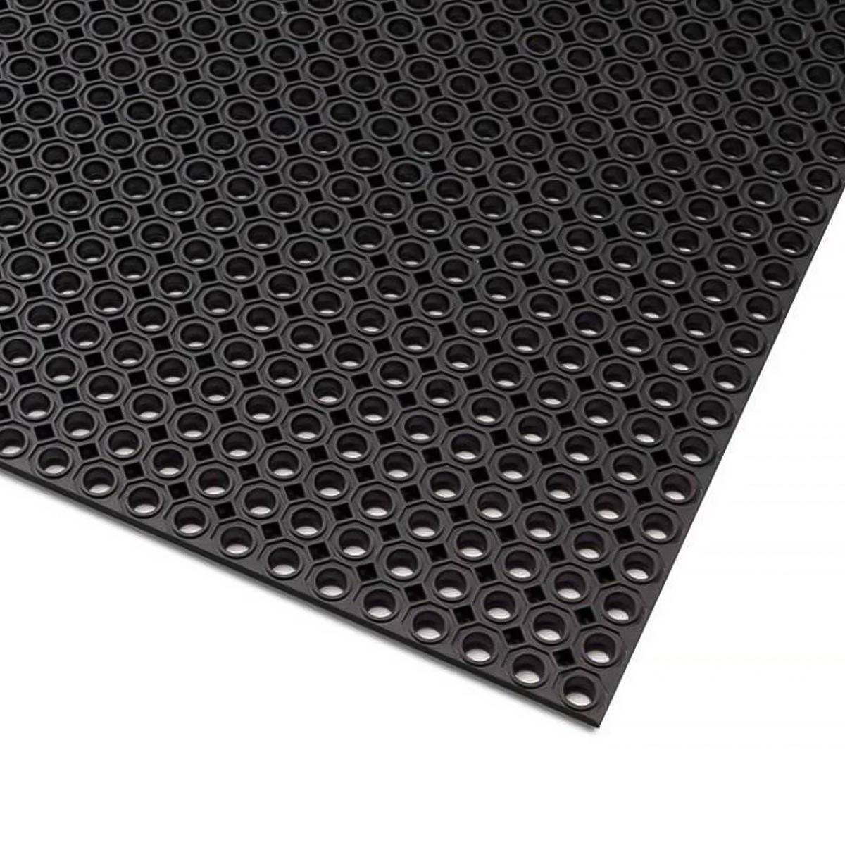 Ringgummimatte 100x100cm schwarz