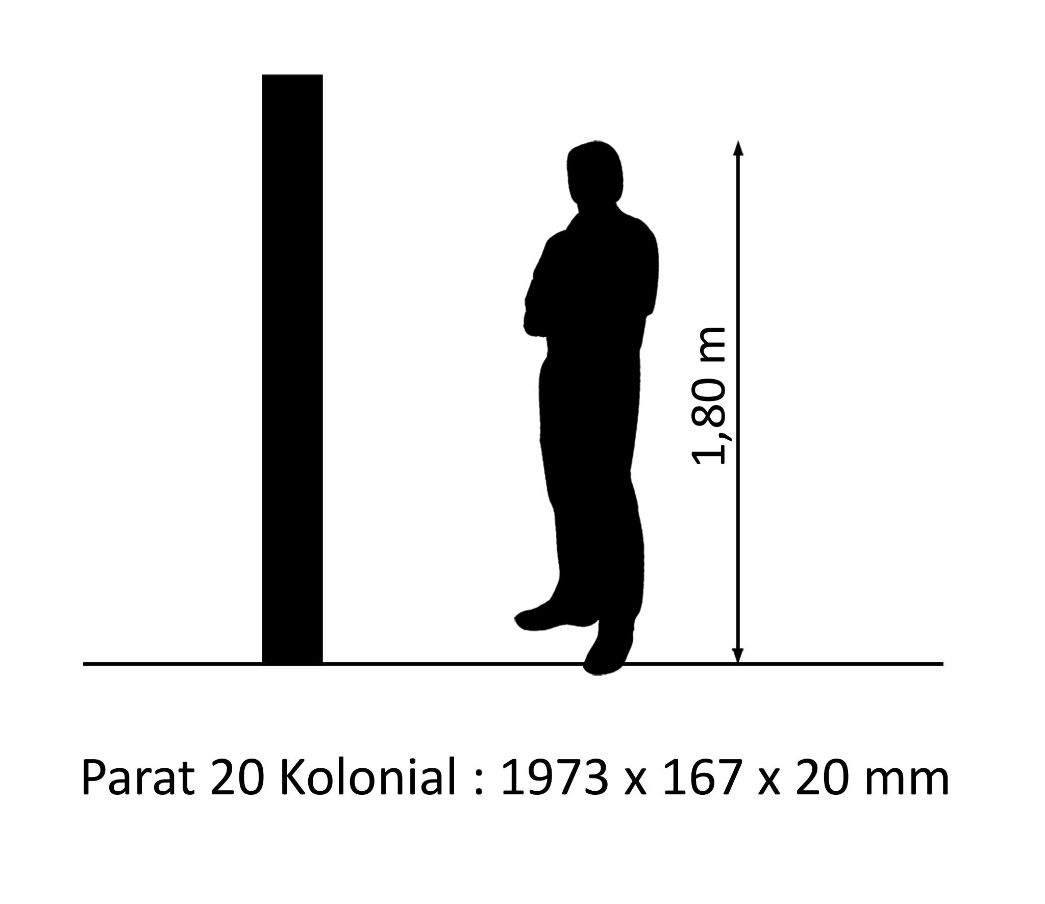 PARAT 20 Kolonial Eiche gekalkt 20mm