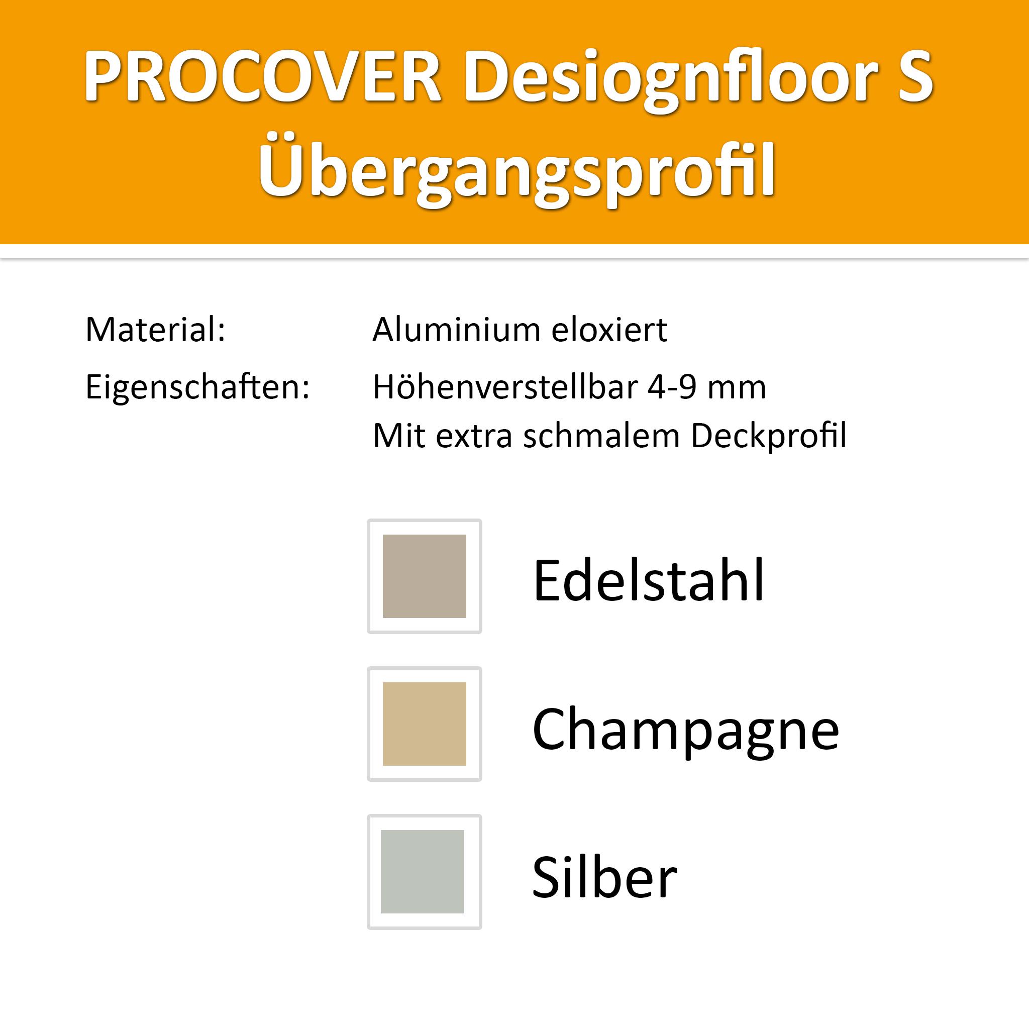 Übergangsprofil Alu Champagne 4-9mm